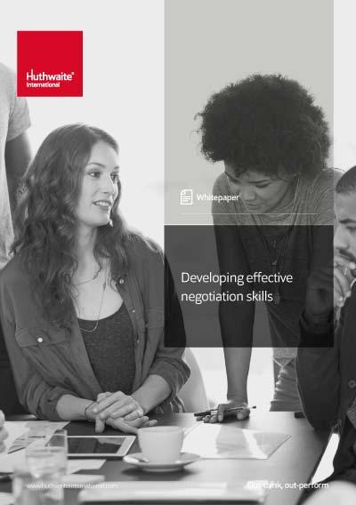 Developing Effective Negotiation Skills